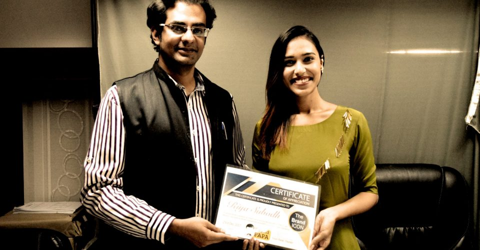 With Riya Subodh - MTV India's Next Top Model Winner Seasion 3